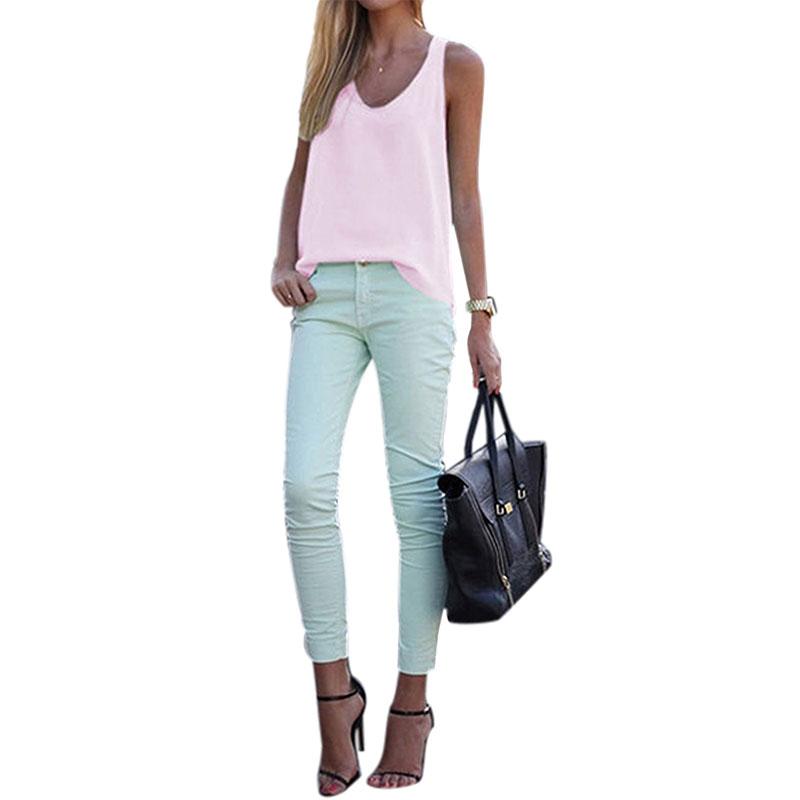Women-V-Neck-Chiffon-Sleeveless-Vest-Blouse-Casual-Tank-Loose-Summer-Tops-Shirt thumbnail 20