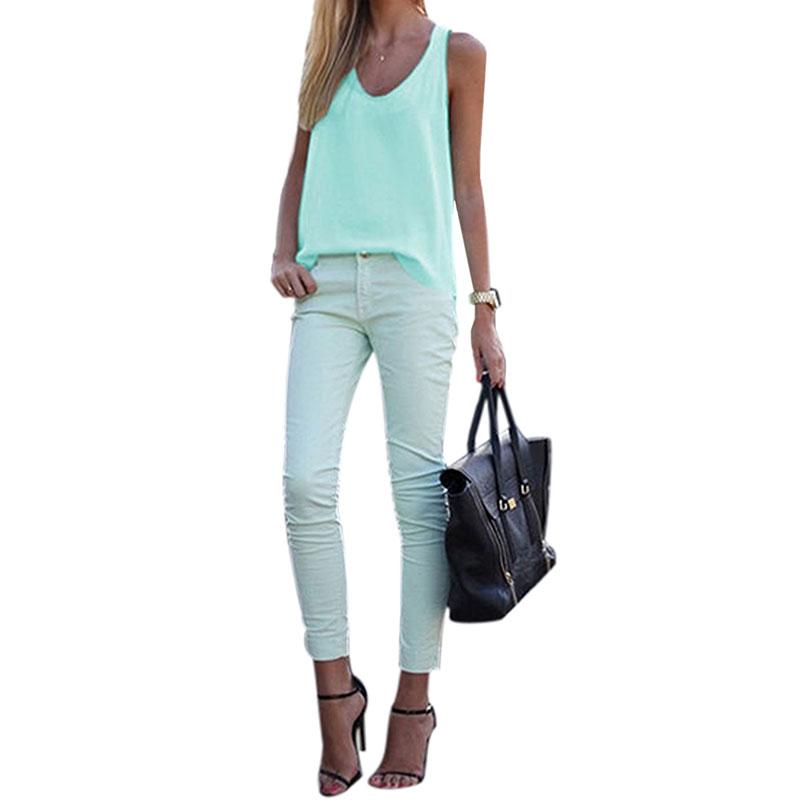 Women-V-Neck-Chiffon-Sleeveless-Vest-Blouse-Casual-Tank-Loose-Summer-Tops-Shirt thumbnail 26