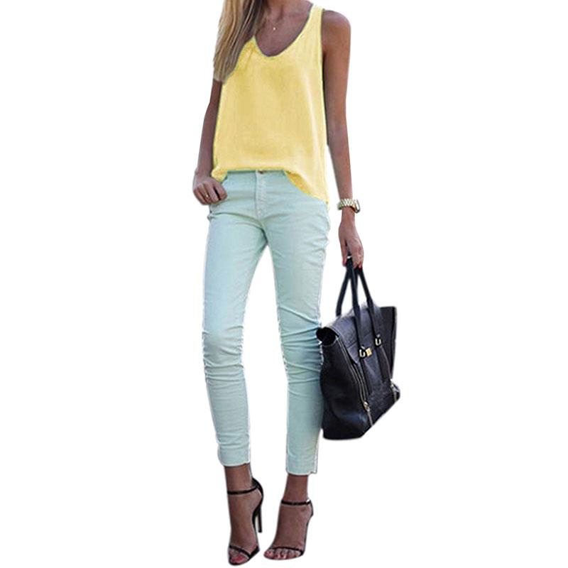 Women-V-Neck-Chiffon-Sleeveless-Vest-Blouse-Casual-Tank-Loose-Summer-Tops-Shirt thumbnail 29