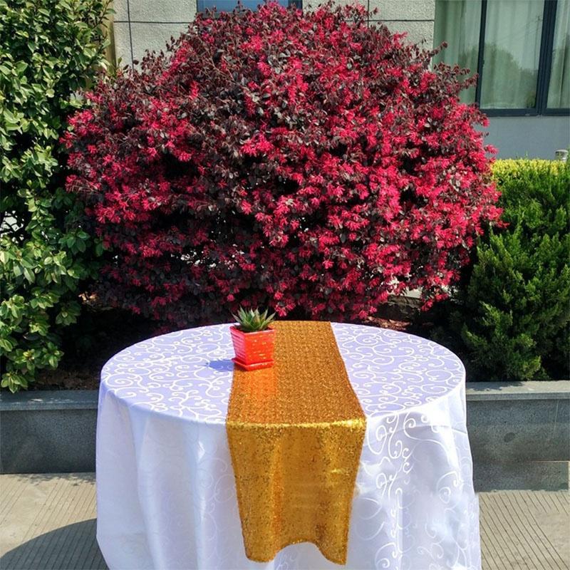 12-034-x72-039-039-108-034-118-034-Sparkle-Paillettes-Table-Runner-Tissu-Mariage-Banquet-Fete-Decor miniature 20