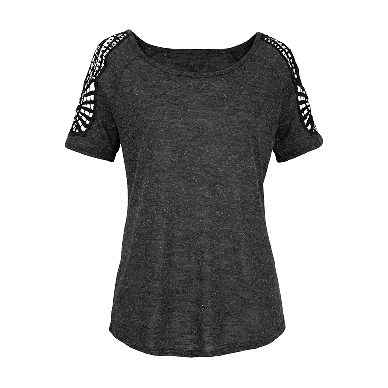 Summer-Women-V-Neck-T-shirt-Loose-Casual-Lace-Crochet-Short-Sleeve-Tops-Blouse thumbnail 19