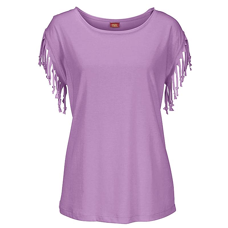 Plus-Size-Women-Tassels-Blouse-Short-Sleeve-Summer-Beach-Scoop-Neck-T-Shirt-Tops thumbnail 14