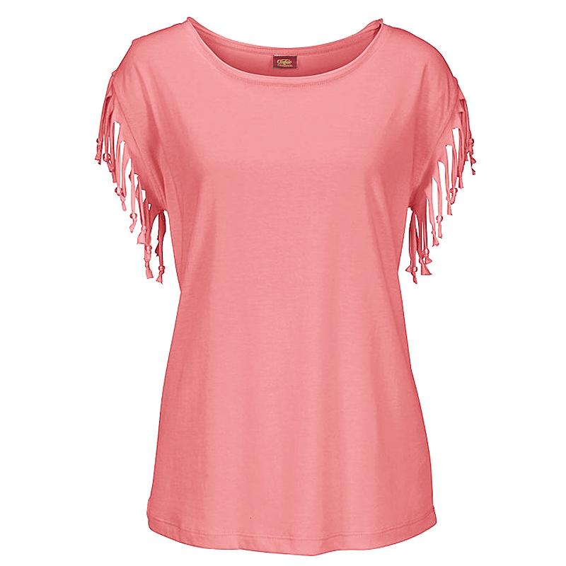 Plus-Size-Women-Tassels-Blouse-Short-Sleeve-Summer-Beach-Scoop-Neck-T-Shirt-Tops thumbnail 16