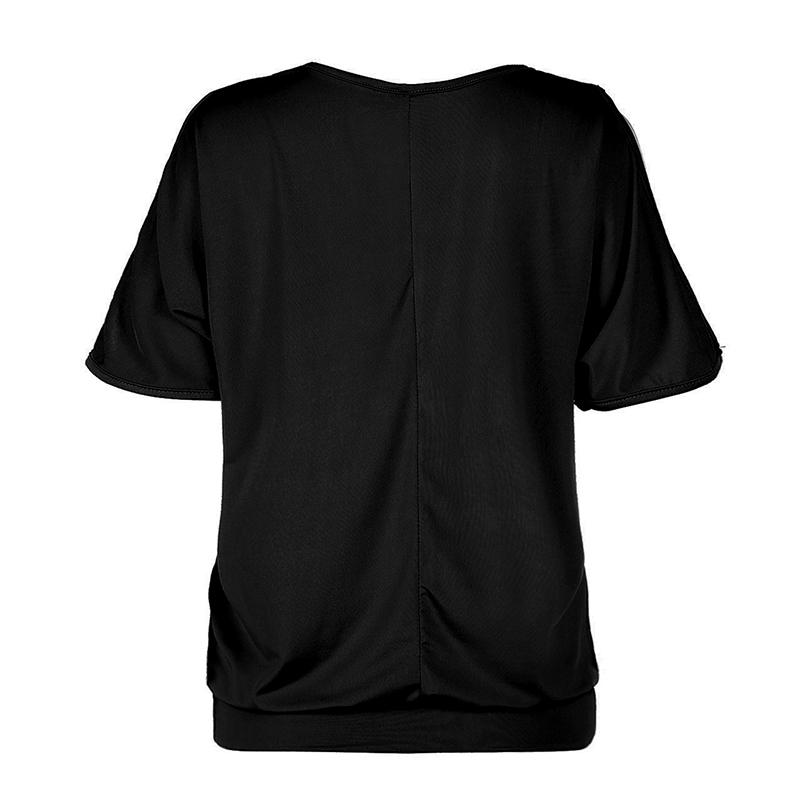 Femmes-Summer-Froid-Epaule-Tee-Top-Chemisier-Decoupe-Chauve-souris-manches-Casual-Tops-T-Shirt miniature 54