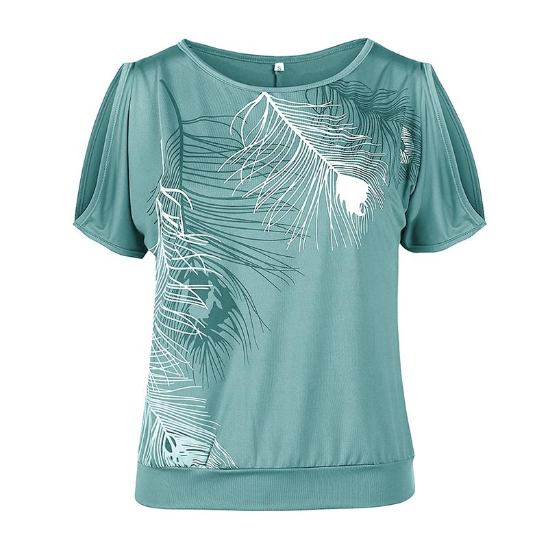 Femmes-Summer-Froid-Epaule-Tee-Top-Chemisier-Decoupe-Chauve-souris-manches-Casual-Tops-T-Shirt miniature 57