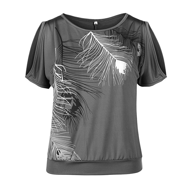 Femmes-Summer-Froid-Epaule-Tee-Top-Chemisier-Decoupe-Chauve-souris-manches-Casual-Tops-T-Shirt miniature 64