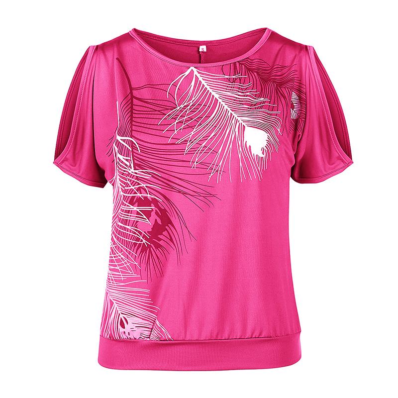 Femmes-Summer-Froid-Epaule-Tee-Top-Chemisier-Decoupe-Chauve-souris-manches-Casual-Tops-T-Shirt miniature 67
