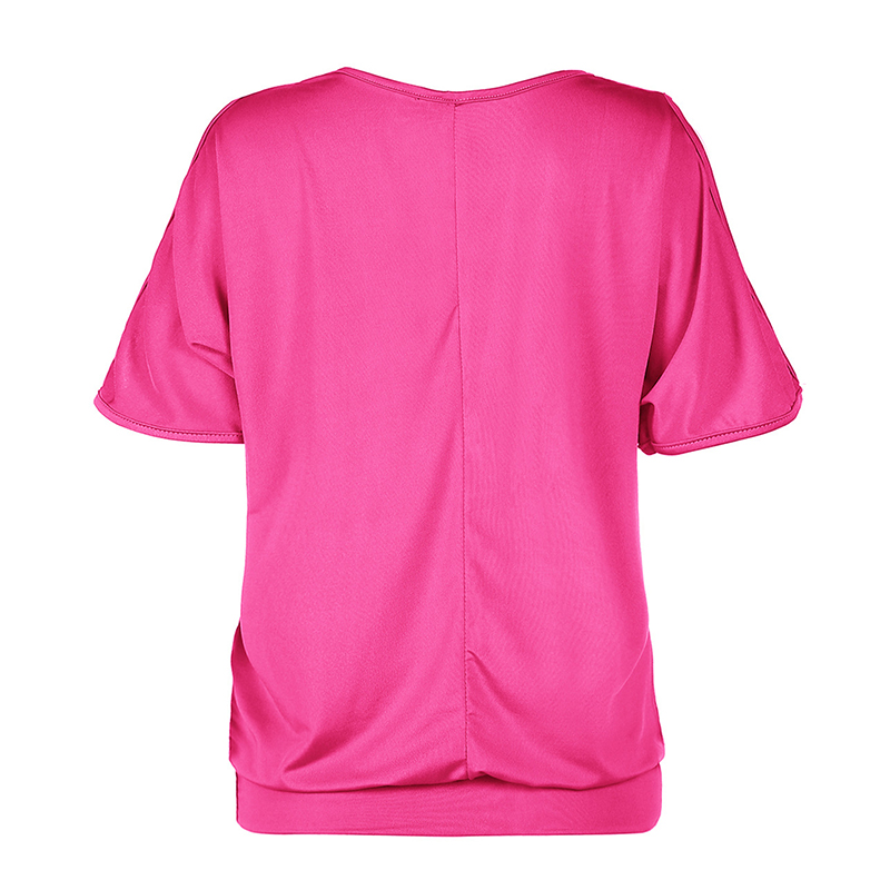 Femmes-Summer-Froid-Epaule-Tee-Top-Chemisier-Decoupe-Chauve-souris-manches-Casual-Tops-T-Shirt miniature 68