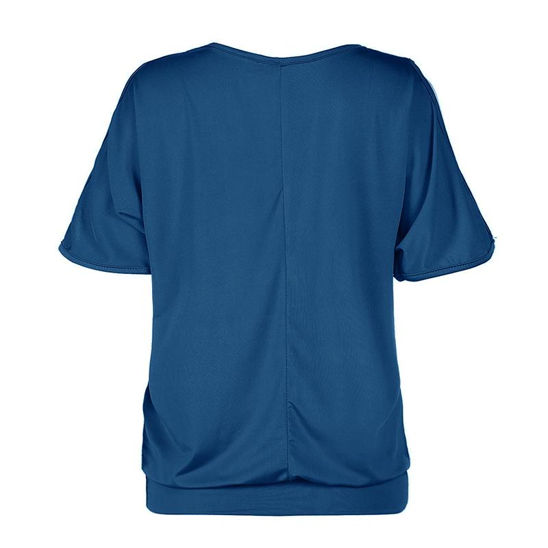 Femmes-Summer-Froid-Epaule-Tee-Top-Chemisier-Decoupe-Chauve-souris-manches-Casual-Tops-T-Shirt miniature 72