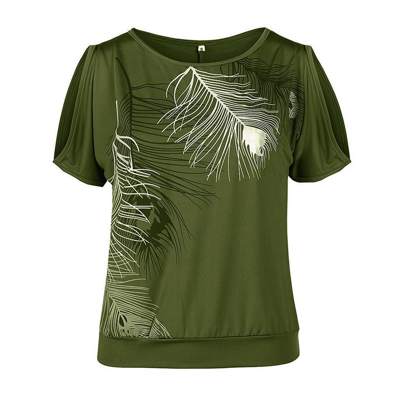 Femmes-Summer-Froid-Epaule-Tee-Top-Chemisier-Decoupe-Chauve-souris-manches-Casual-Tops-T-Shirt miniature 75