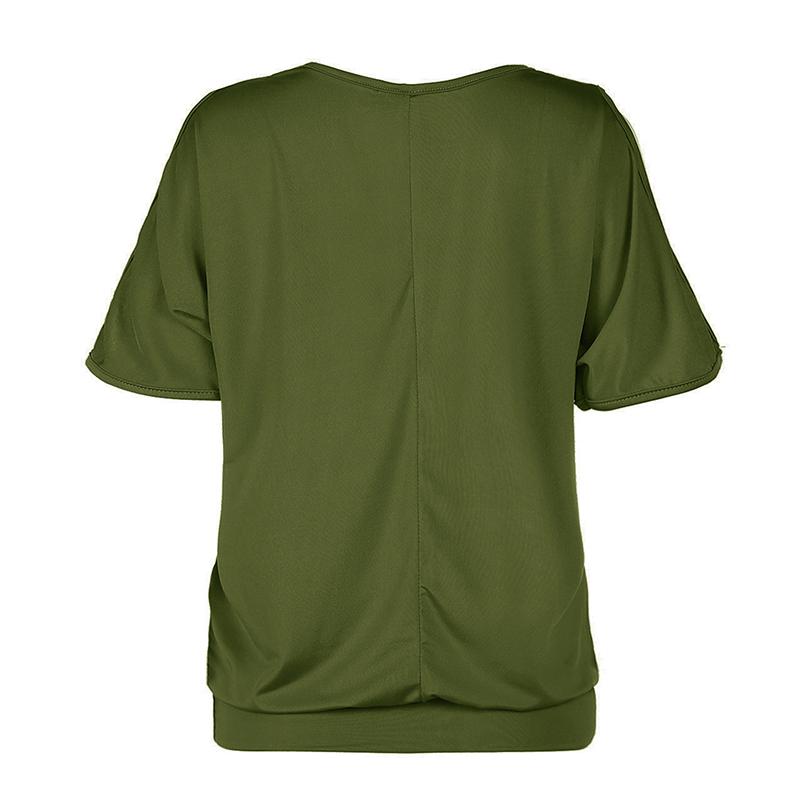 Femmes-Summer-Froid-Epaule-Tee-Top-Chemisier-Decoupe-Chauve-souris-manches-Casual-Tops-T-Shirt miniature 76