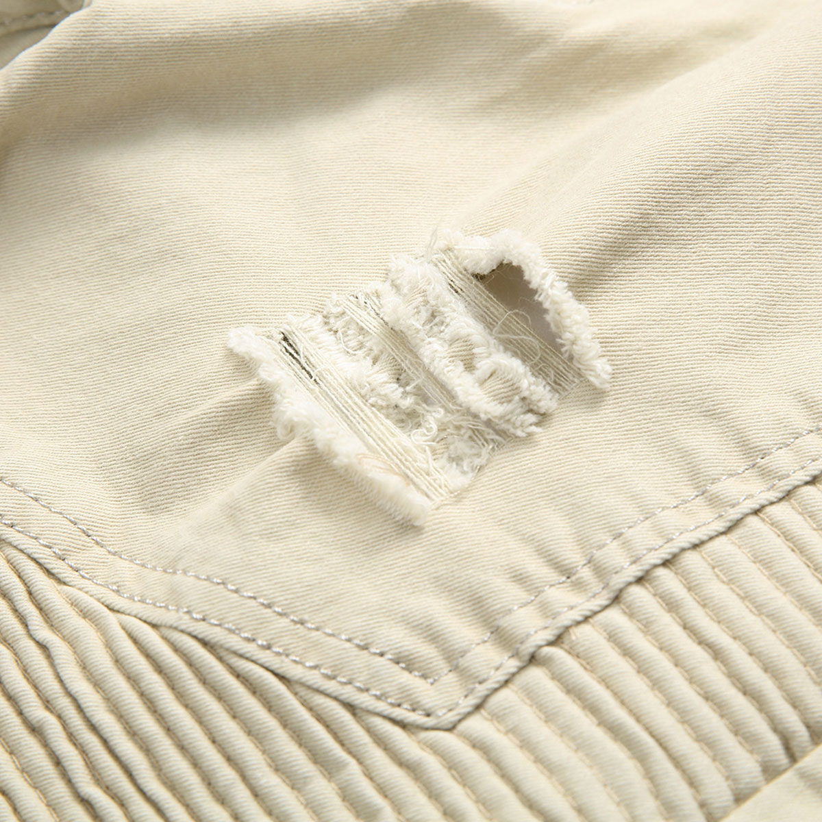 Men-039-s-Skinny-Biker-Jeans-Destroyed-Slim-Fit-Denim-Ripped-Pencil-Pants-Trousers thumbnail 36