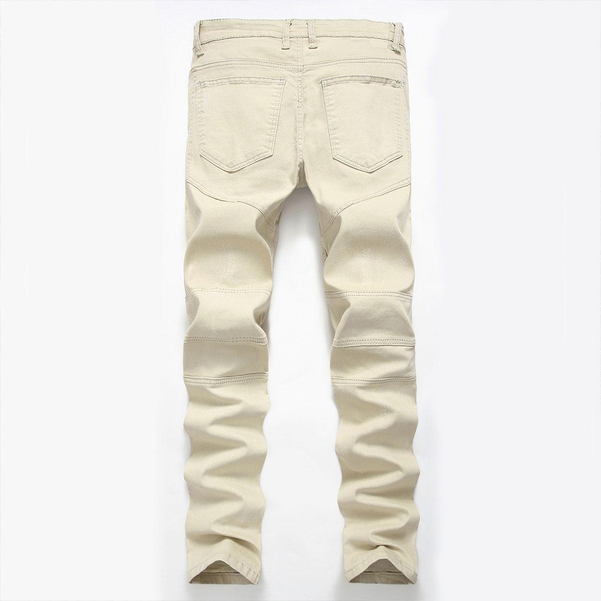 Men-039-s-Skinny-Biker-Jeans-Destroyed-Slim-Fit-Denim-Ripped-Pencil-Pants-Trousers thumbnail 37