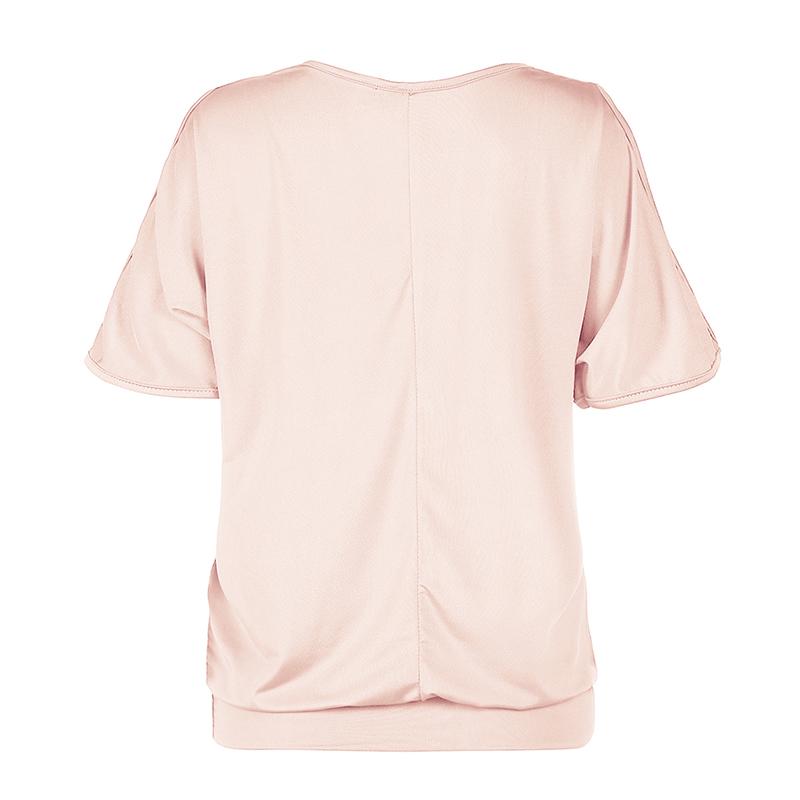 Femmes-Summer-Froid-Epaule-Tee-Top-Chemisier-Decoupe-Chauve-souris-manches-Casual-Tops-T-Shirt miniature 14