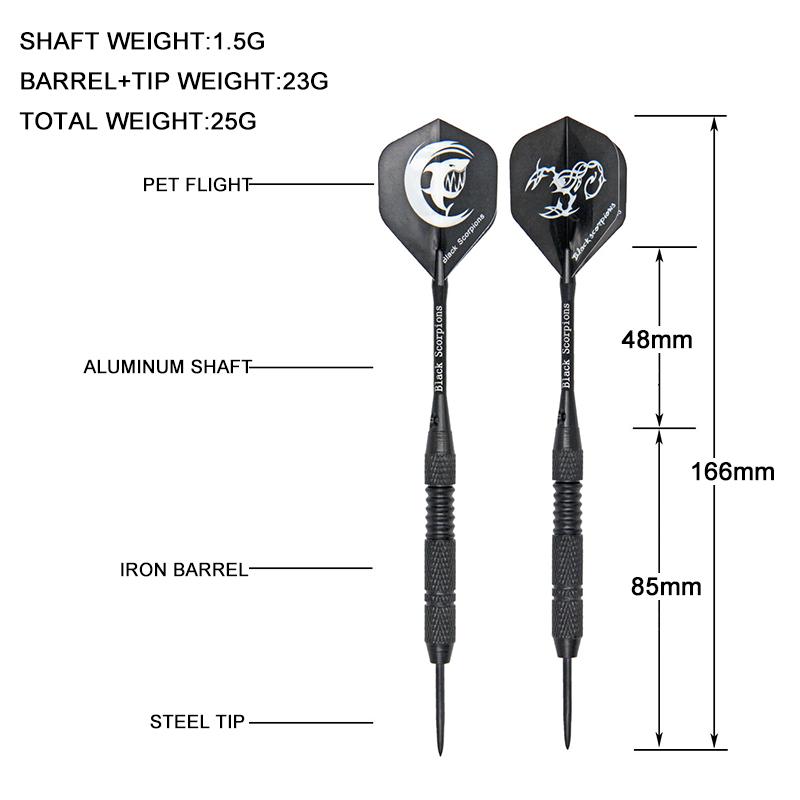 Shaft Flight Steel Tip Case+3 Extra Shafts 3pcs//set Professional Tungsten Dart