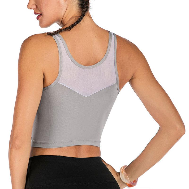 Nesyd Women Padded Sports Bra Longline Workout Yoga
