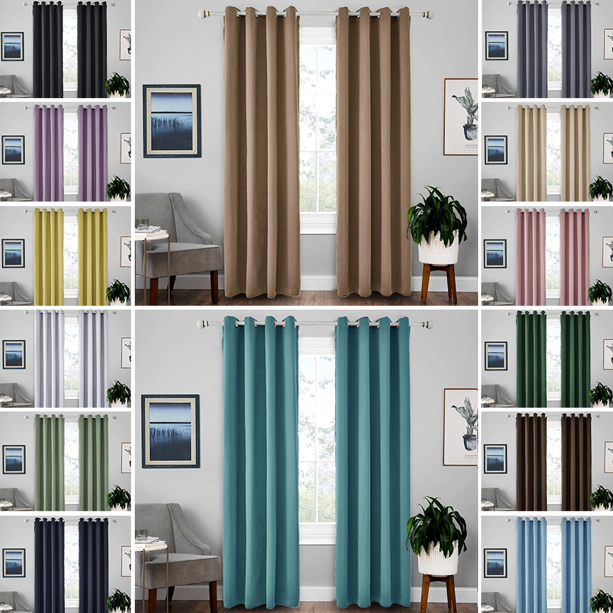 1 Panels Blackout Window Curtains