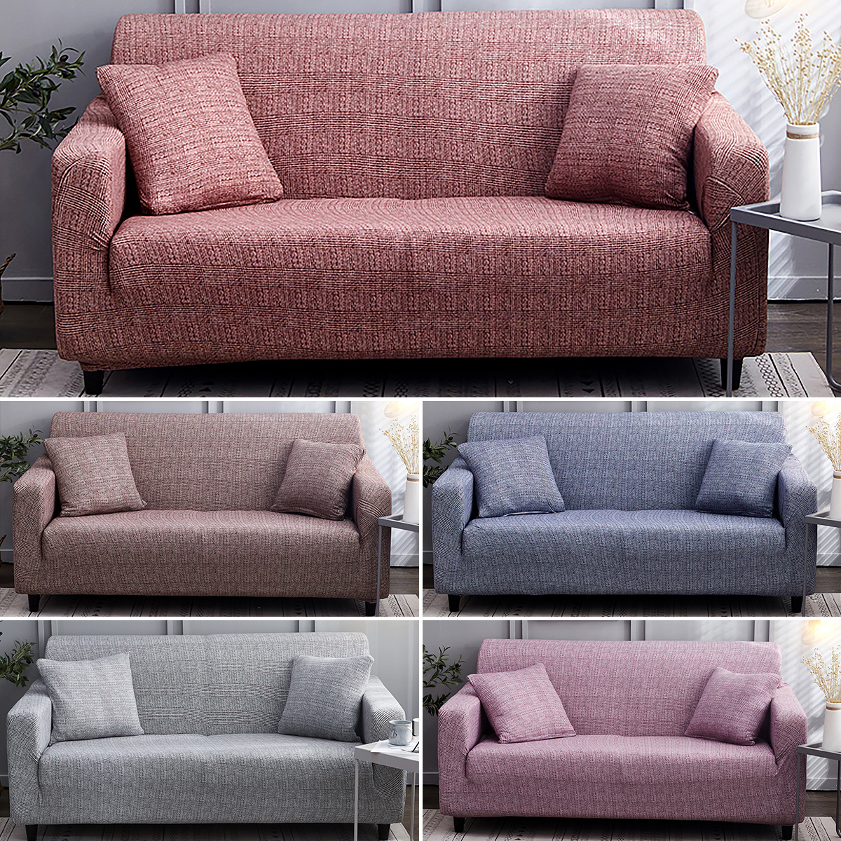 Couch Slipcover Stretch Elastic Fabric