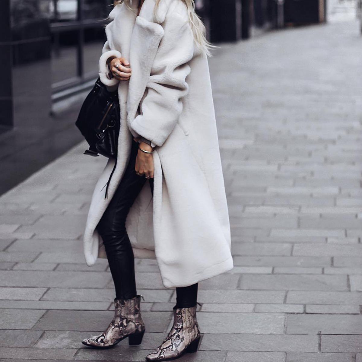 Women-Winter-Warm-Teddy-Bear-Fleece-Coat-Fluffy-Jacket-Cardigan-Overcoat-Outwear miniatura 13