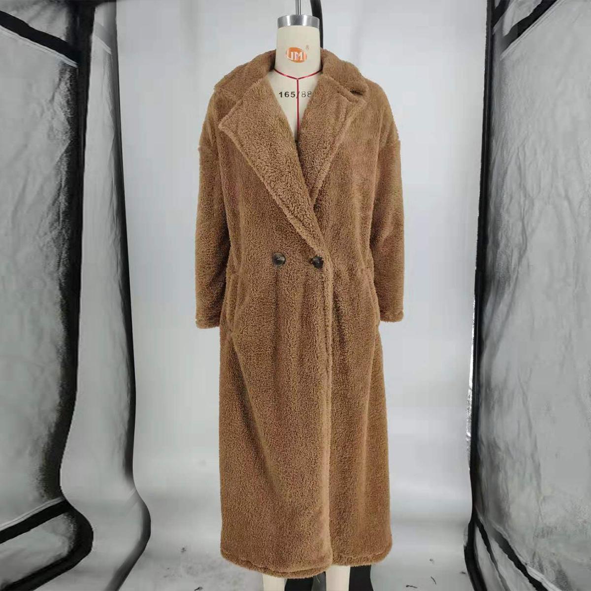 Women-Winter-Warm-Teddy-Bear-Fleece-Coat-Fluffy-Jacket-Cardigan-Overcoat-Outwear miniatura 18