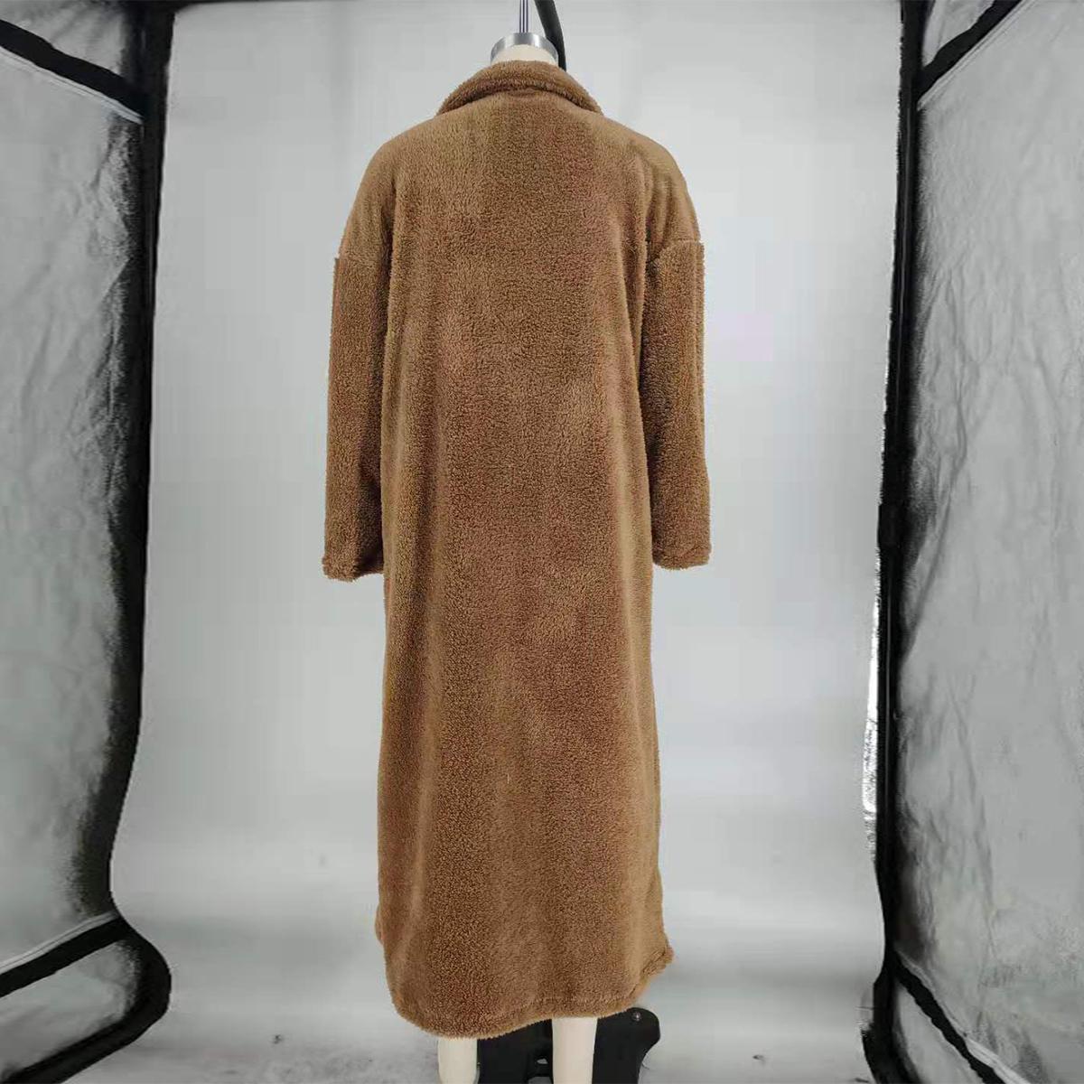 Women-Winter-Warm-Teddy-Bear-Fleece-Coat-Fluffy-Jacket-Cardigan-Overcoat-Outwear miniatura 19
