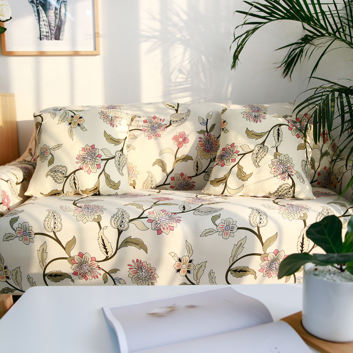 1234 Seat Elastic Stretch Sofa Cover Soft Touch Slipcover Couch Cover Protector