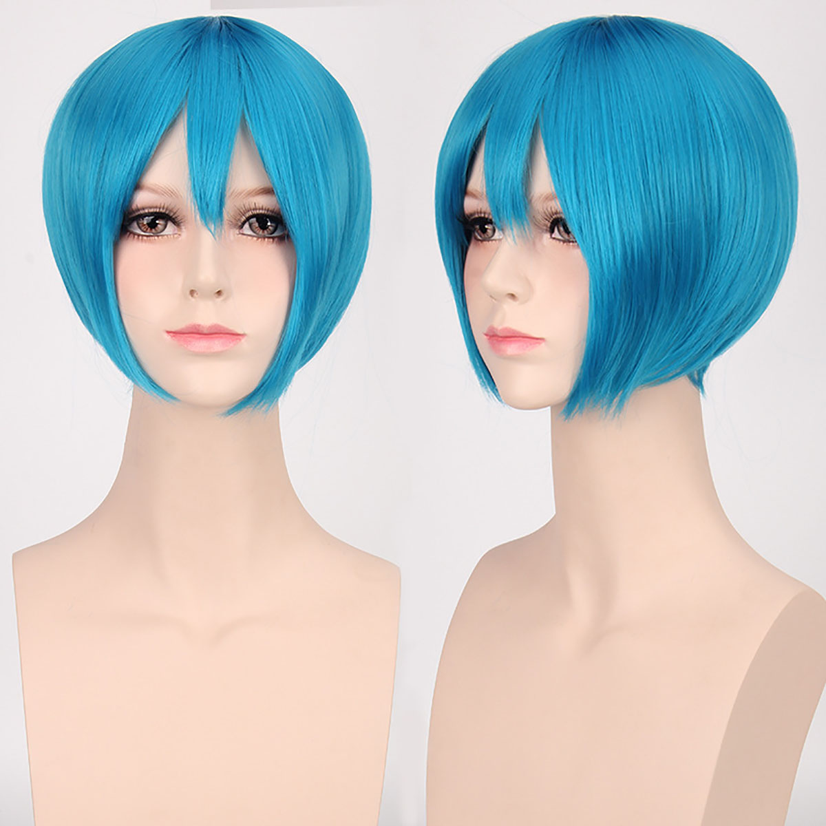 Short Straight Hair Multi Color Synthetic Bob Style Wig ...