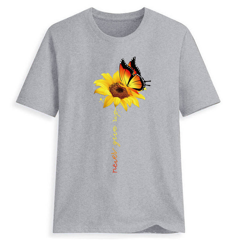 Women-Sunflower-Tops-Ladies-Short-Sleeve-Crew-Neck-Casual-Blouse-Shirt-Plus-Size thumbnail 15