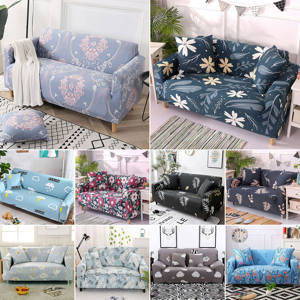 Stretch Chair Loveseat Sofa Cover 1 2 3 4 Seater Protecter Couch Floral Slipcove