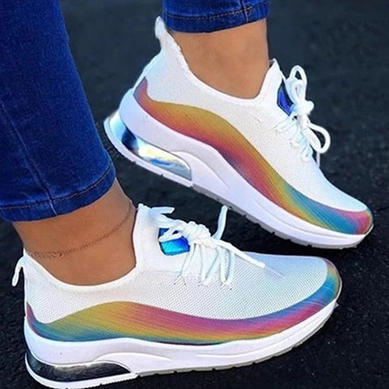 Women-Air-Cushion-Sneakers-Casual-Sports-Breathable-Running-Gym-Shoes-Reflective thumbnail 11