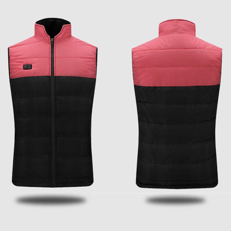 Men Electric Vest Heated Jacket USB Thermal Winter Warmer Heated Pad Body Coat