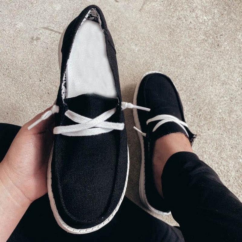 thumbnail 30 - Lady Women Pumps Slip On Flat Loafers Trainers Sneakers Casual Boat Shoes Size