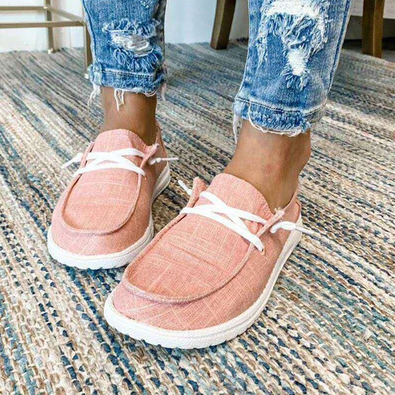 thumbnail 32 - Lady Women Pumps Slip On Flat Loafers Trainers Sneakers Casual Boat Shoes Size