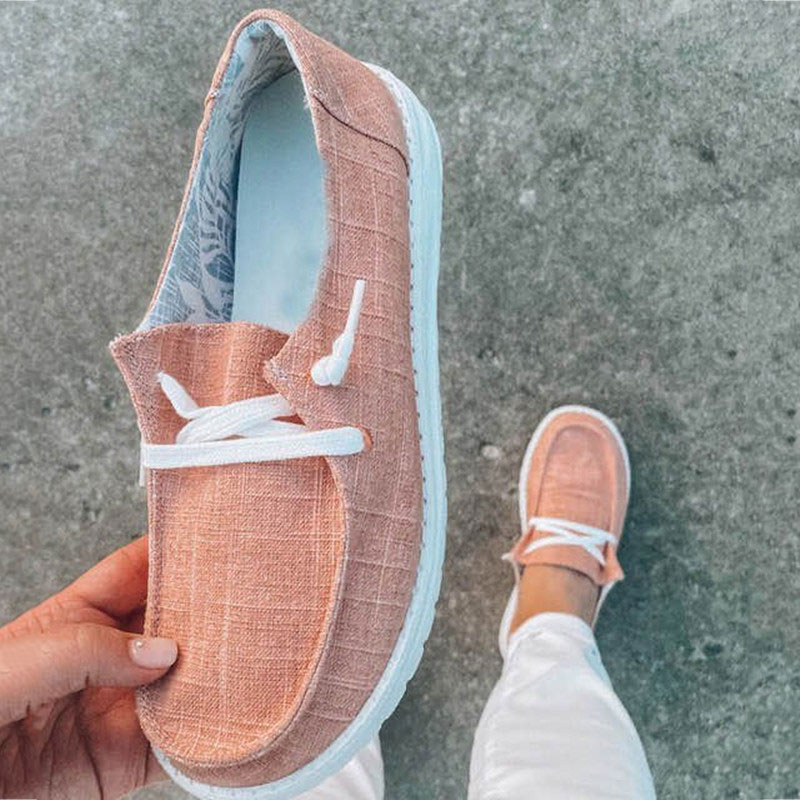 thumbnail 33 - Lady Women Pumps Slip On Flat Loafers Trainers Sneakers Casual Boat Shoes Size