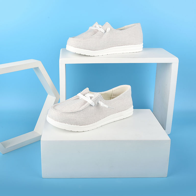 thumbnail 19 - Lady Women Pumps Slip On Flat Loafers Trainers Sneakers Casual Boat Shoes Size