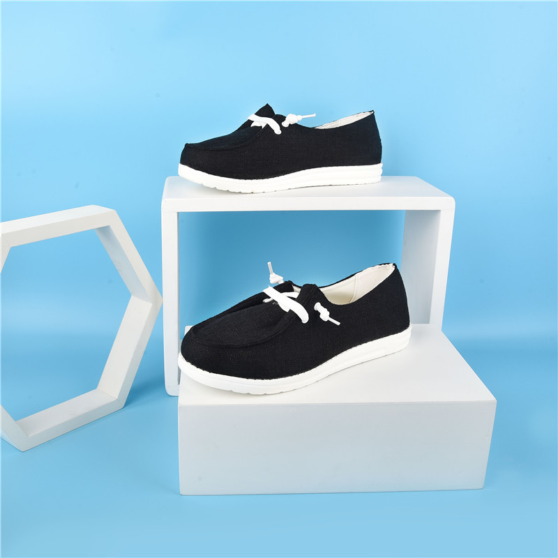thumbnail 27 - Lady Women Pumps Slip On Flat Loafers Trainers Sneakers Casual Boat Shoes Size