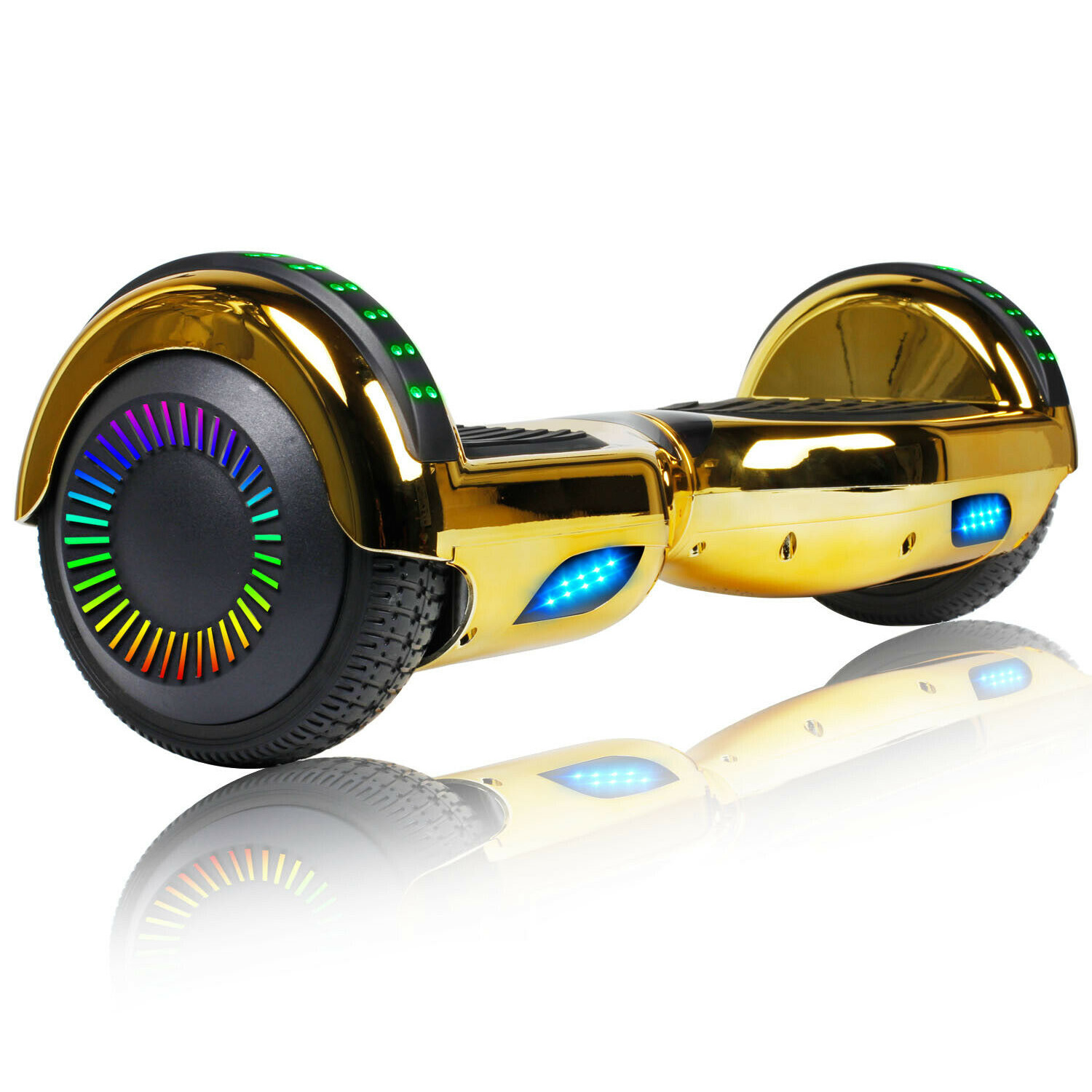 all terrain hoverboard bluetooth chrome electric self