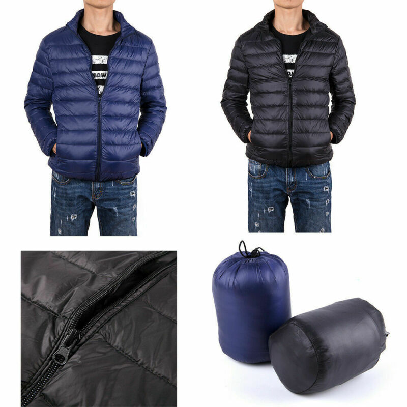 us mens solid down jacket ultralight stand