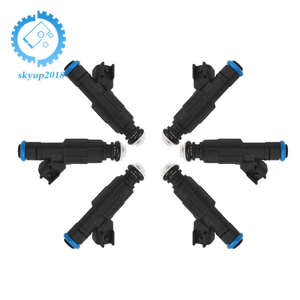 OEM 6x 4-Hole Upgrade Fuel Injectors For 99-04 4.0L Jeep Cherokee 0280155784 New
