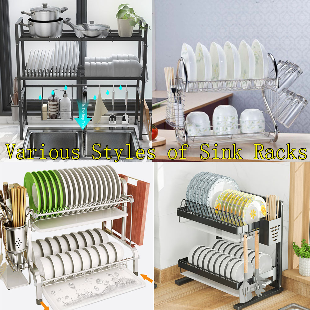 Dish Drying Rack 2 - Tier Over the Sink Dish Drying Rack Kit