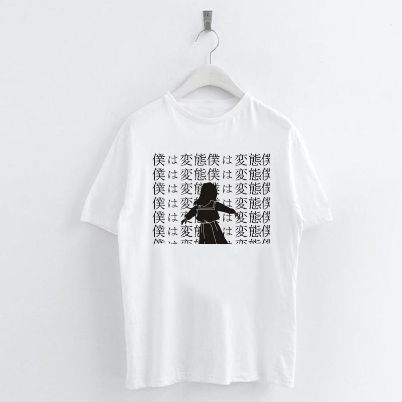 Harajuku-Anime-Girl-Printed-T-shirt-Women-Casual-Summer-Tee-Short-Sleeve-Tops thumbnail 11