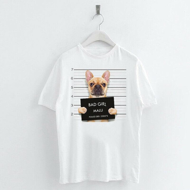Animal-Heat-Printed-T-Shirts-Crew-Neck-Short-Sleeve-Loose-Summer-Women-Top-Tee thumbnail 7