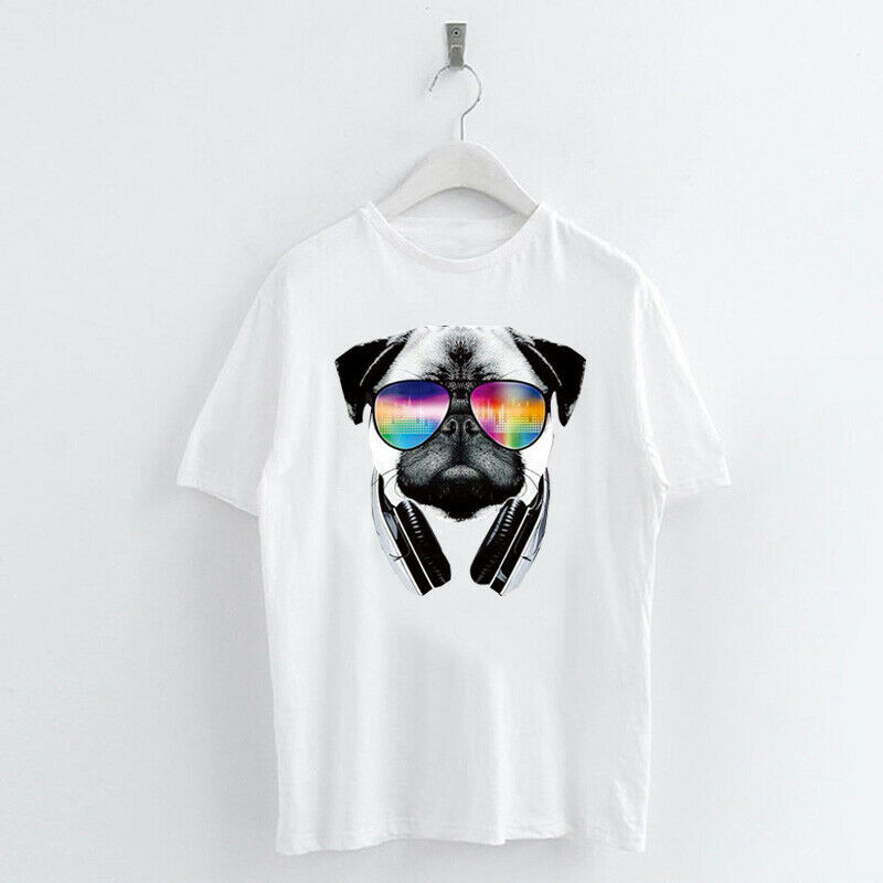 Animal-Heat-Printed-T-Shirts-Crew-Neck-Short-Sleeve-Loose-Summer-Women-Top-Tee thumbnail 33