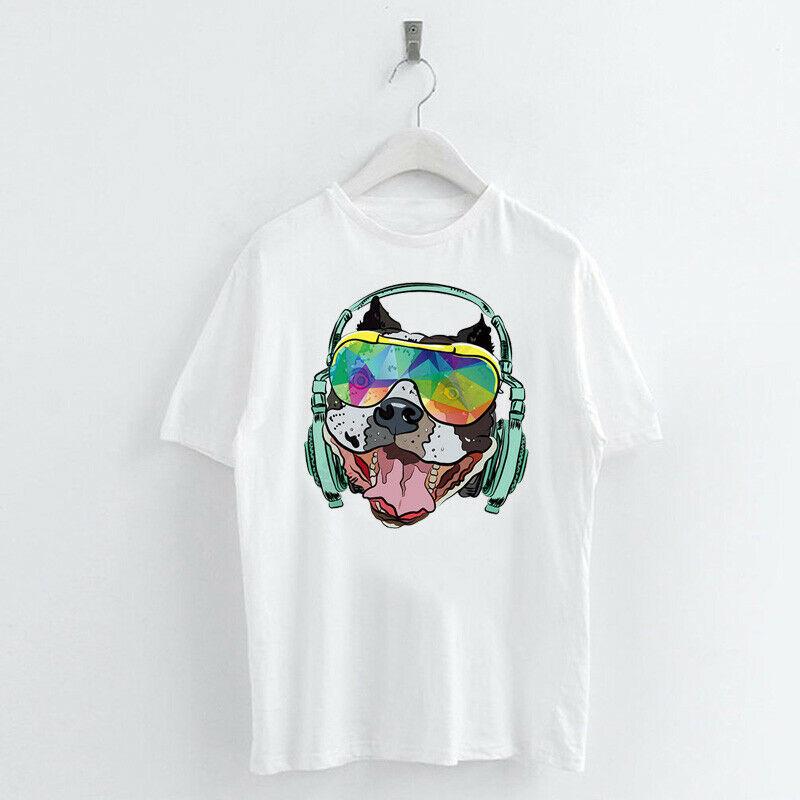 Animal-Heat-Printed-T-Shirts-Crew-Neck-Short-Sleeve-Loose-Summer-Women-Top-Tee thumbnail 40