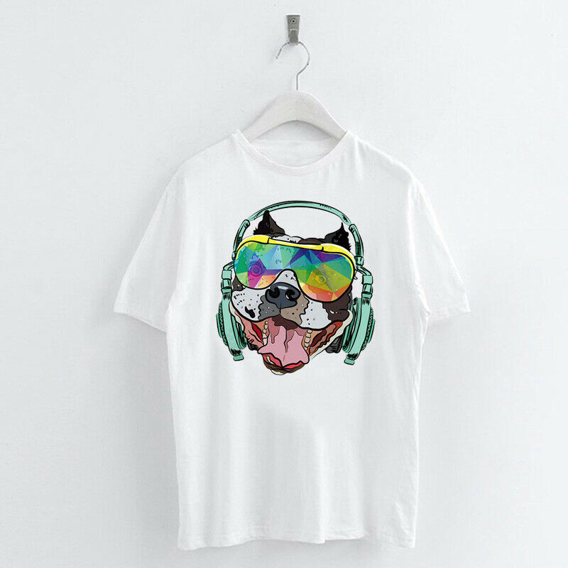 Animal-Heat-Printed-T-Shirts-Crew-Neck-Short-Sleeve-Loose-Summer-Women-Top-Tee thumbnail 41