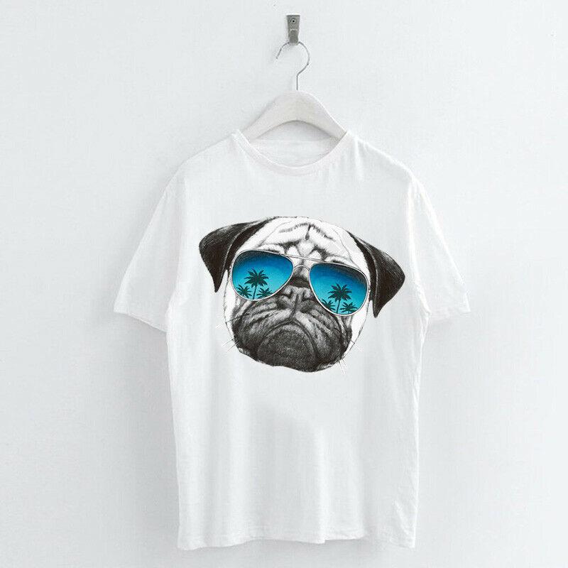 Animal-Heat-Printed-T-Shirts-Crew-Neck-Short-Sleeve-Loose-Summer-Women-Top-Tee thumbnail 44