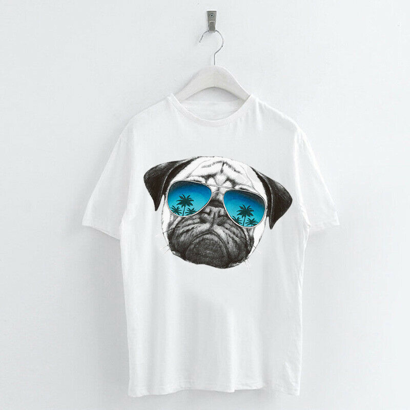 Animal-Heat-Printed-T-Shirts-Crew-Neck-Short-Sleeve-Loose-Summer-Women-Top-Tee thumbnail 45