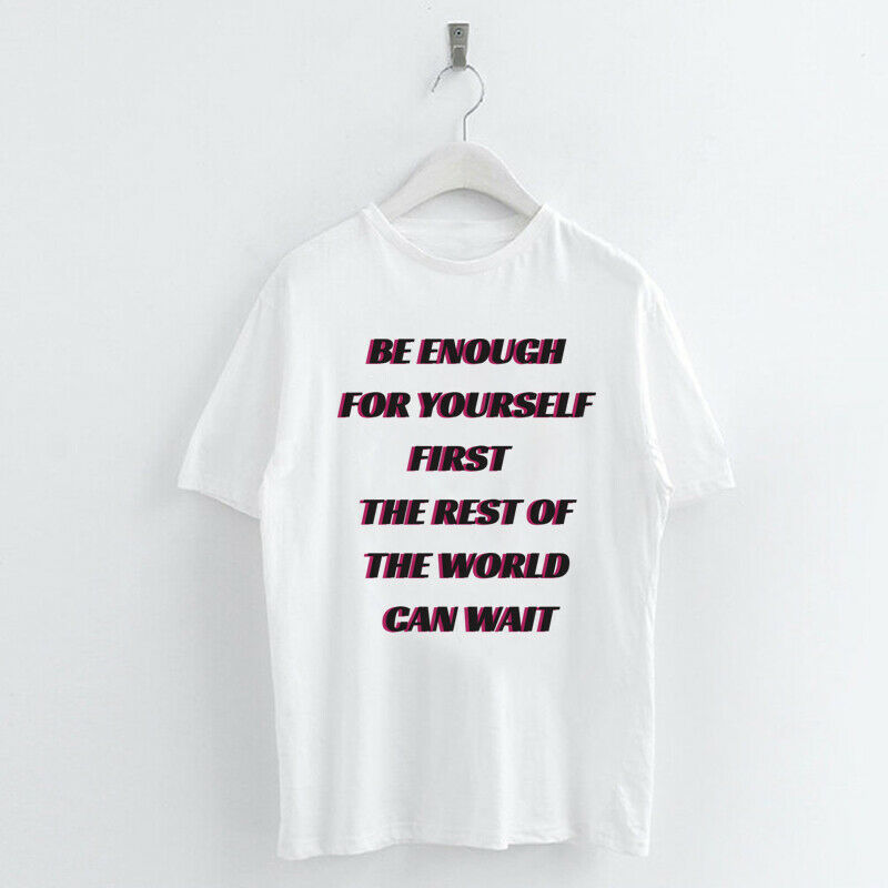 Harajuku-Words-Letter-Women-T-shirt-Summer-Tee-Tops-Never-Give-up-I-can-I-will thumbnail 15