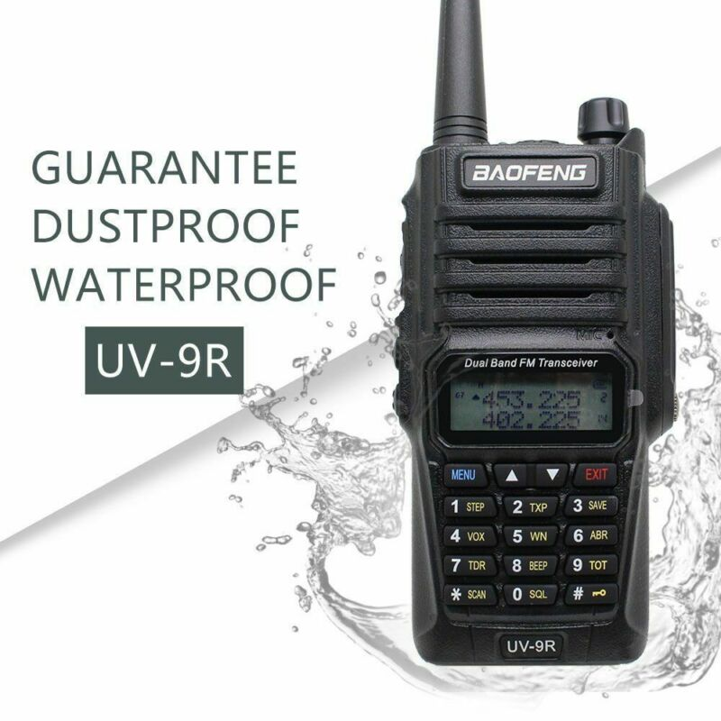 Baofeng-UV-9R-Waterproof-Handheld-Walkie-Talkie-Dual-Band-2-Way-Radios-Earpiece thumbnail 2