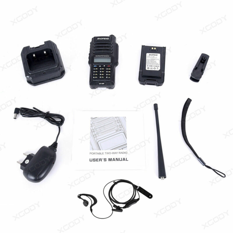 Baofeng-UV-9R-Waterproof-Handheld-Walkie-Talkie-Dual-Band-2-Way-Radios-Earpiece thumbnail 11